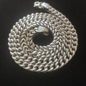 Jewelry - White Gold Silver Franko Chain